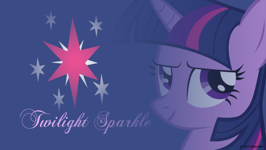 Twilight Sparkle Headshot Wallpaper by nsaiuvqart