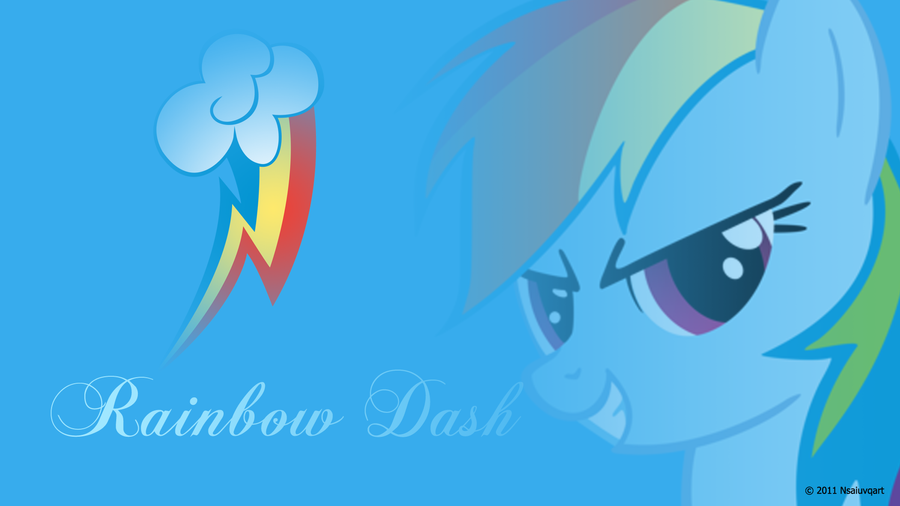 Rainbow Dash Headshot Wallpaper by nsaiuvqart