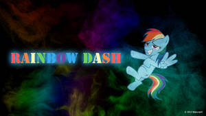 Rainbow Dash Mist Wallpaper by nsaiuvqart