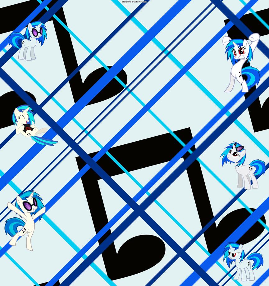 Vinyl Scratch New YouTube Background by nsaiuvqart