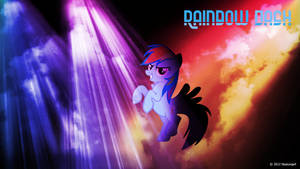 Rainbow Dash can party Wallpaper