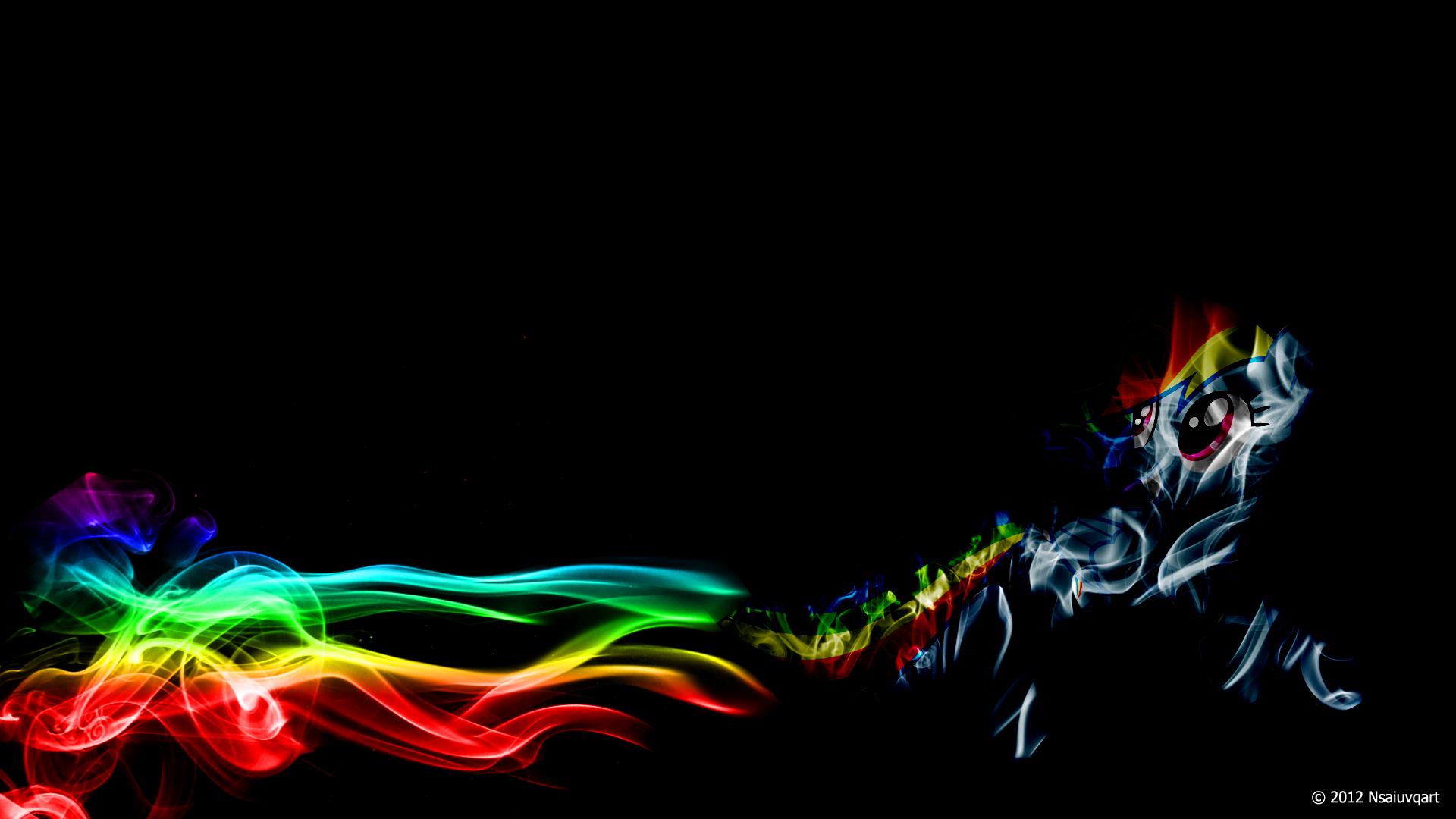 Rainbow Dash Light Wallpaper by nsaiuvqart
