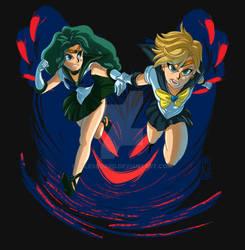 ESCAPE! Sailor Neptune and Sailor Uranus!