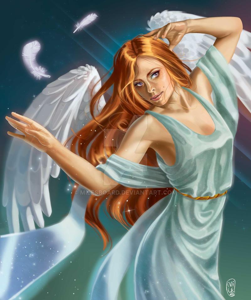Archangel Haniel by milesboard on DeviantArt