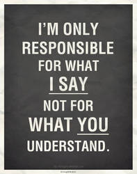 I'm Only Responsible for... by IrvingGFM