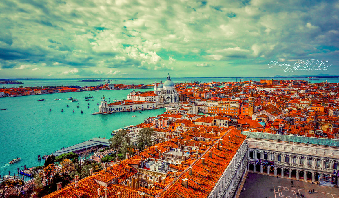 Venice: View from St. Mark's Campanile by IrvingGFM