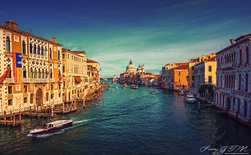 Venice: View from Accademia Bridge by IrvingGFM