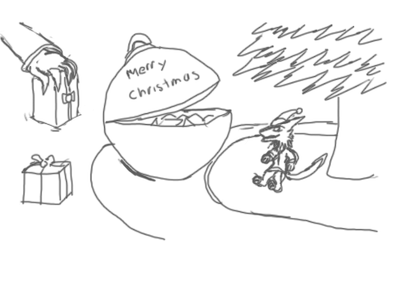 quickly draw sketch christmas by PowerLogiDRG