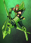 Green Arrrow Colored