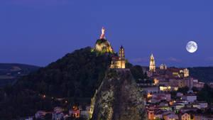 Vue sur le Puy-en-velay, le Rocher de Corneille