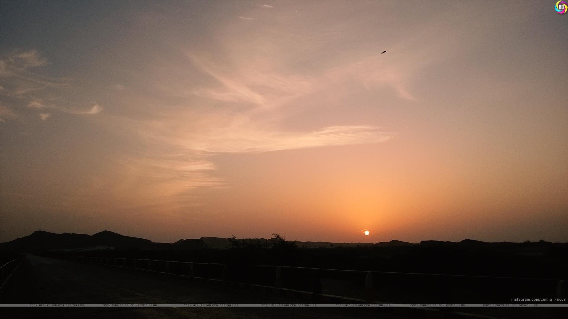 Sunset and Sky, Hingol National Park, Balochistan