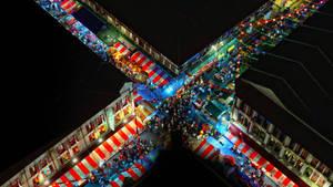 Luftbild von Chinatown, Singapur