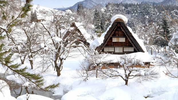 Shirakawa-go of snow Gifu