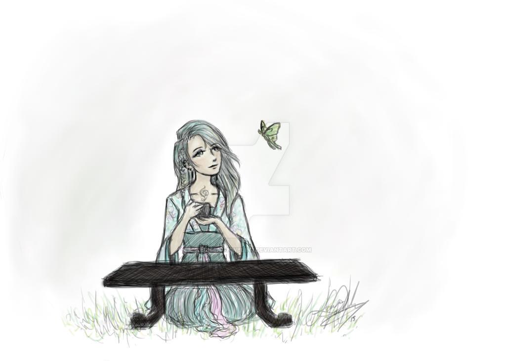 Luna Moth by nessalinwelin7