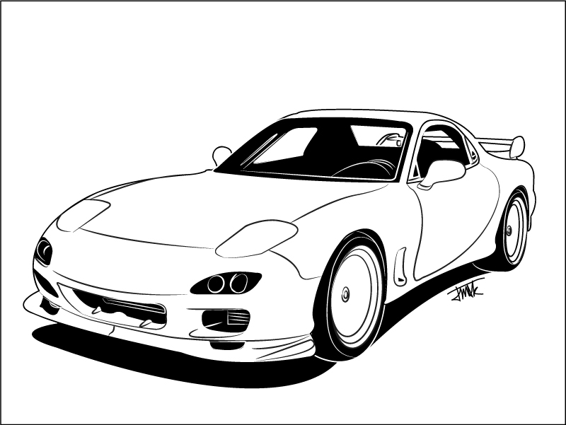 It's just an image of Breathtaking Mazda Rx7 Drawing