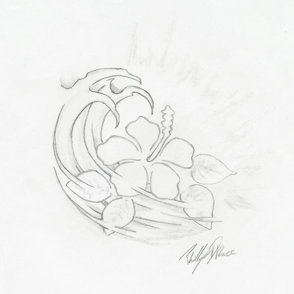 How to draw easy hawaiian flower step by step hawaiian flowers drawings gallery flowers step izmirmasajfo