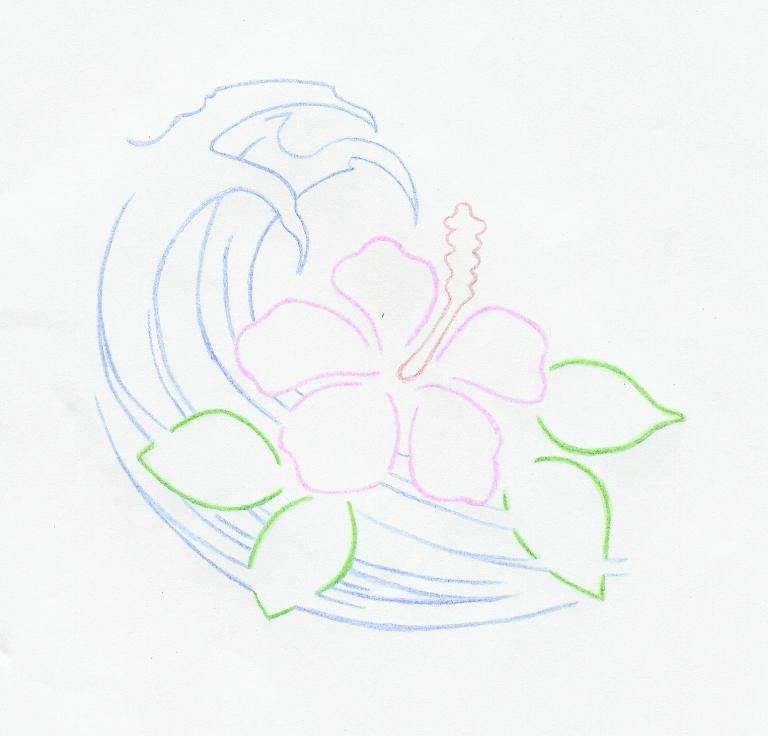 Tropical Flower Line Drawing : Hawaiian flowers drawings joy studio design gallery