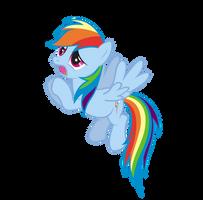 Begging Rainbow Dash Vector by saturtron
