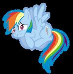 Scared Rainbow Dash Vector