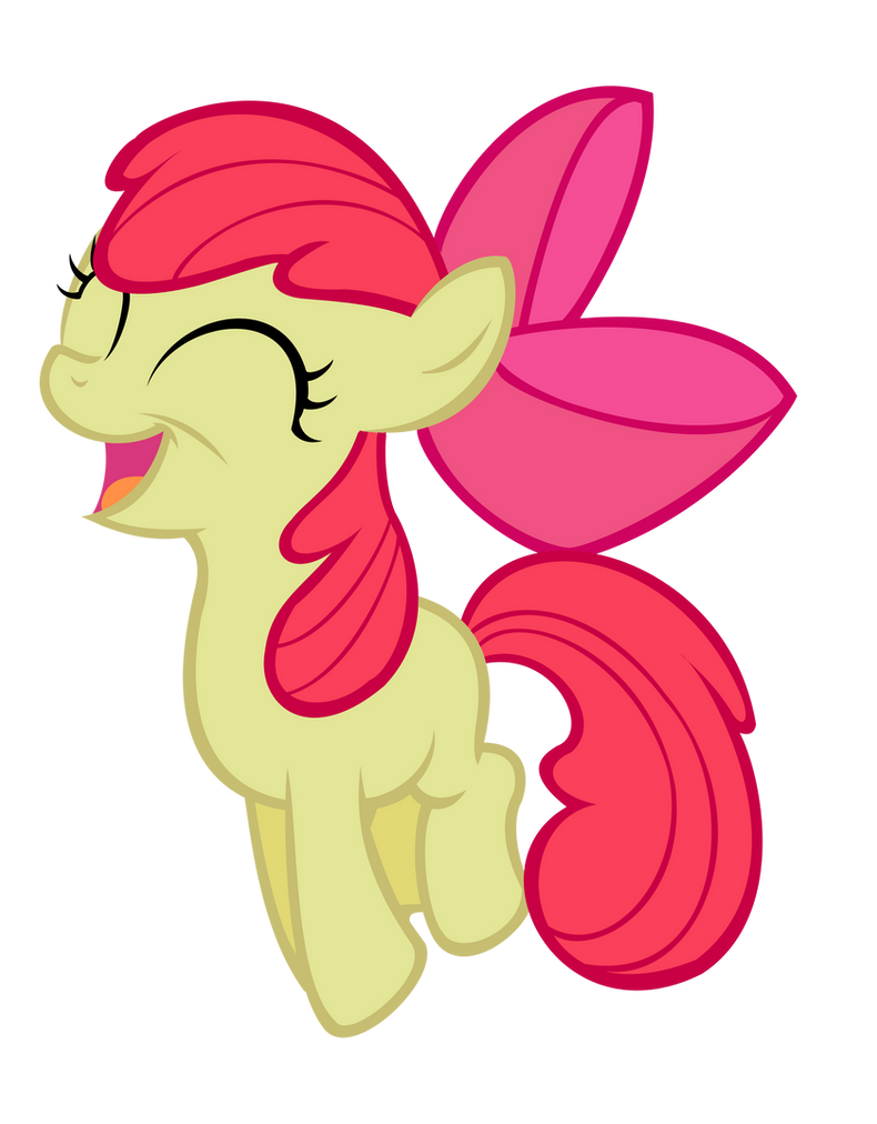 Happy Jumping Applebloom Vector by saturtron