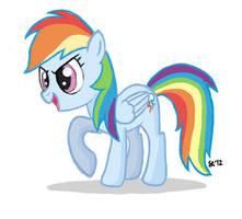 Rainbow Dash Painting by saturtron