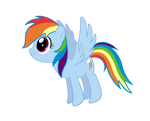 Rainbow Dash Drawing Vector