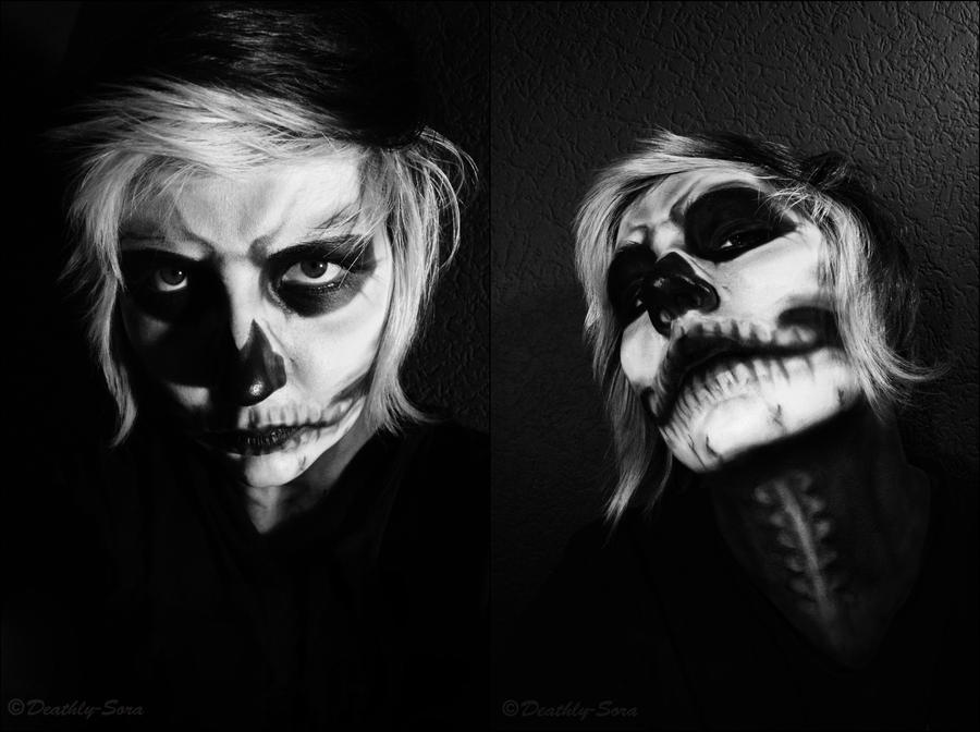Skull Make up by Deathly-Sora