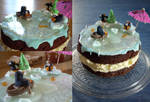 Frozen Lake Christmas Cake