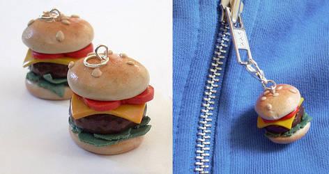 Polymer Burger Charms