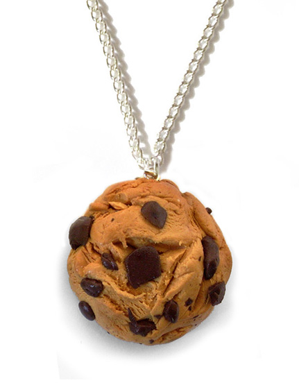 Choc-Chip Cookie Necklace by InvisibleSnow