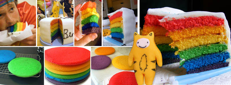 Rainbow Cake with Tiger-Boy