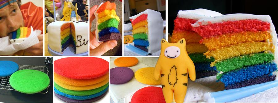 Rainbow Cake with Tiger-Boy