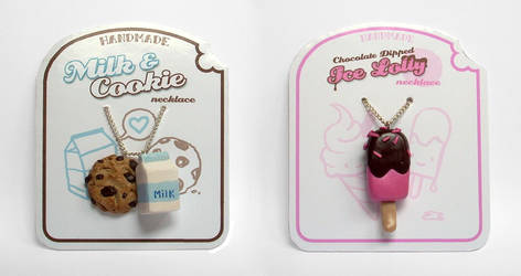 Two Yummy Necklaces by InvisibleSnow
