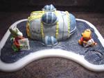 a dinosour cake