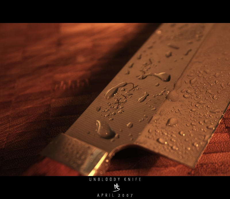 UNBLOODY KNIFE by science10