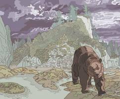 Bear in the Wilderness by jennyweatherup