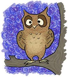 Goofy Owl by jennyweatherup