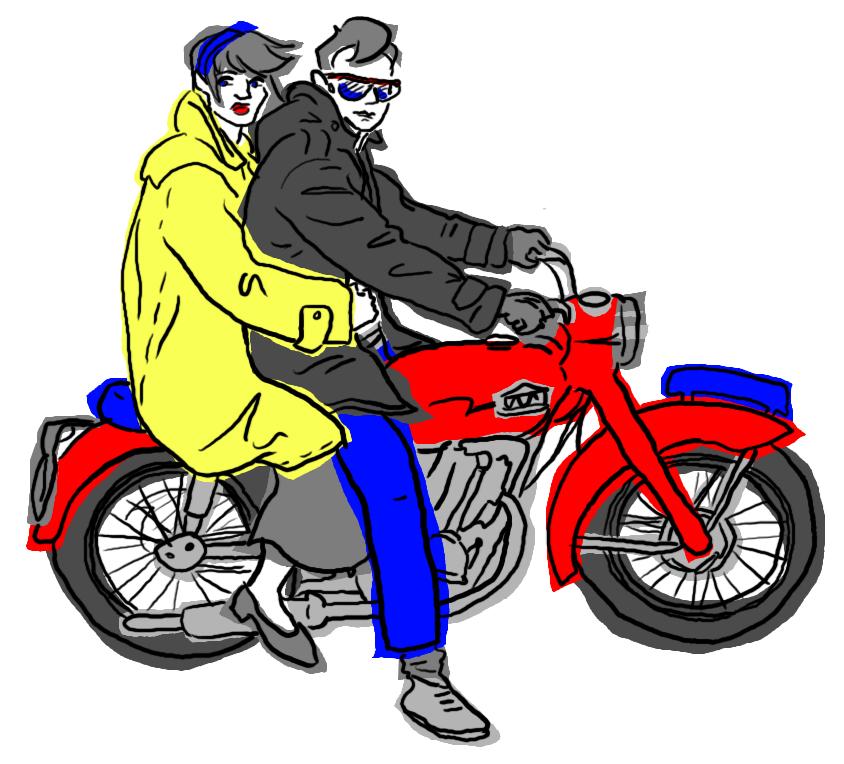 Retro Motorcycle by jennyweatherup