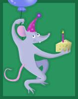 Birthday Rat by jennyweatherup