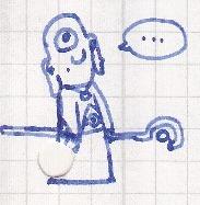 Wondering Mage Dude Scribble by vonRibbeck