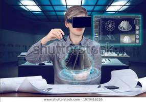 Futuristic-cad-workplace-male-man-600w-1079416226 by vonRibbeck