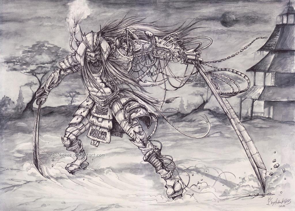 cyber samurai by anka-kokos