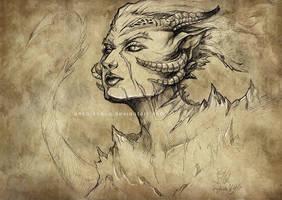 Driad sketch by anka-kokos