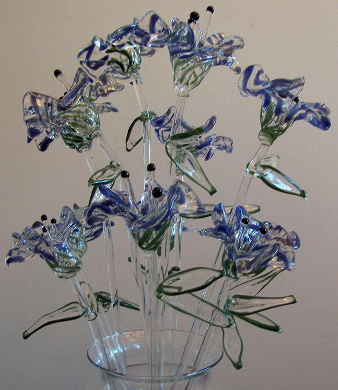 glass flower bouquet 3 by BCGlassArt on DeviantArt