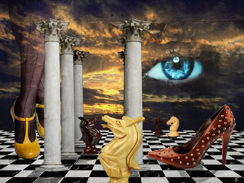 The Game Of Chess With A Red By Fiery Fire On Deviantart