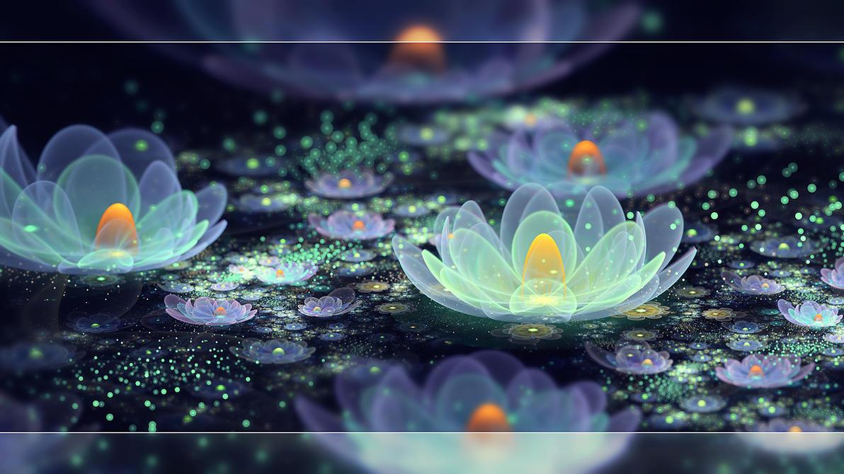 Lotus pond dew by Fiery-Fire