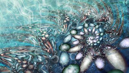 Swirling pebbles river run by Fiery-Fire