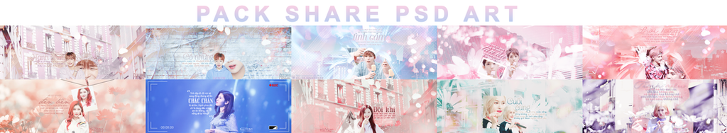 // PACK SHARE PSD ART // by MinHyun2822
