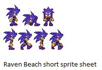Raven beach short sprite sheet by Raventh1245
