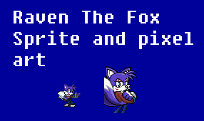 Raven The fox sprite and pixel art by Raventh1245